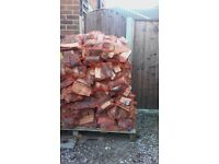 Netted bags of logs for sale