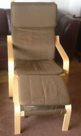 Bentwood chair and foot stool