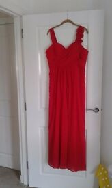 Red bridesmaid dress size 16