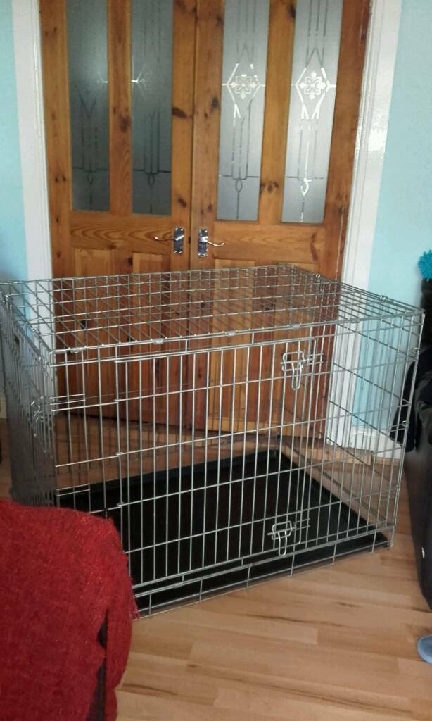 Giant galvanised steel Savic dog cage / crate / kennel / carrier