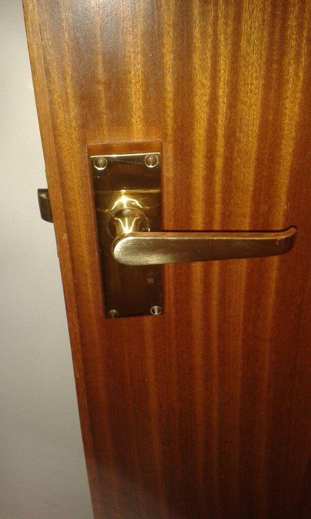3 X Sets Of Brass Effect Interior Door Handles In Inverness
