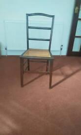 Wicker base chair