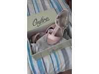 leather sandals nude colour