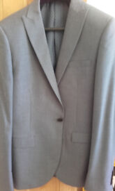 Suit worn once only - NEXT 40 L jacket, 32 L Trousers Slim Fit