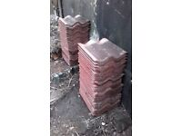 70 traditional style terracotta roof tiles