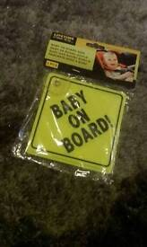 BN in packet baby on board sign