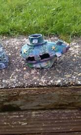 2 fish tank ornaments