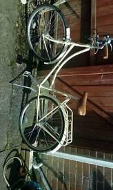 Bombi Cinzia retro womens bike, cream and brown, hardly used and stored in garage