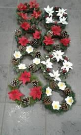 """10 """"ARTIFICIAL CHRISTMAS WREATH 5.00 WILL POST"""