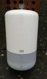 Liquid soap and paper towel dispensors