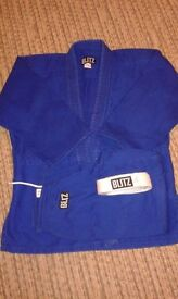Judo suit Blue Size 2/150 (9 to 12yrs) Heavy Cotton
