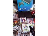 Ps3 great condition hardly used boxed with 3 controllers, 4 games