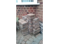 Red/Brown Block Paving Bricks - Used approx 200