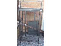 Large black galvenized parrot cage for African grey /cockatoo/ nearly new\