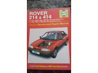 Rover 214 and 414 Haynes Manual.