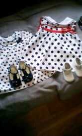 Baby Mayoral dress with shoes good condition, 6/9