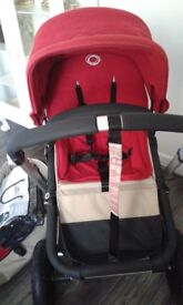Bugaboo chameleon with the carrycot rain cover and footmuff in excellent clean condition