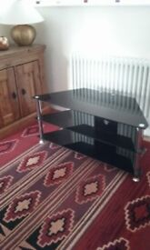 3 tier glass tv stand.