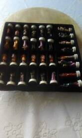 Medieval style chess set
