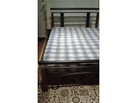 Double Bed, Fame and mattress - DELIVERY AVAILABLE