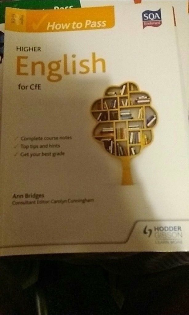 How to Pass Higher English for CfEin Aberdeen - Perfect Condition SQA Endorsed Complete Course Notes Top Tips and Hints Helps gets your Best Grade