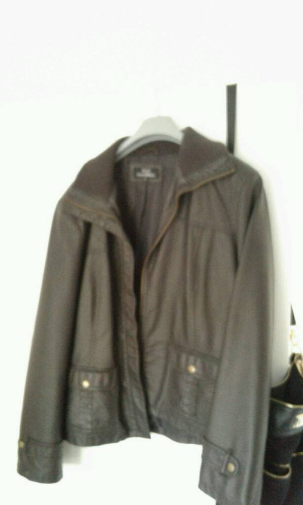 Brown leather jacket size 20in Liverpool, MerseysideGumtree - Brown leather jacket brand new never been worn
