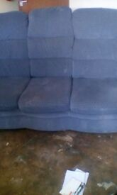 3 seattet blue settee with slight pattern