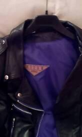 Ladies leather motor cycle jacket