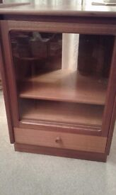 Wooden glass fronted unit