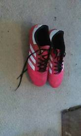 Red adidas football boots size 9