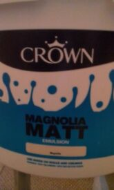 Three 10 ltrs Magnolia unopened paint for sale CHEAP