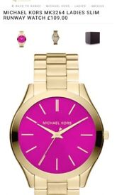 Michael Kors gold and pink brand new watch £70