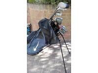 Nike golf bag and 15 clubs