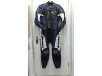 Alpine Stars motor cycle leathers, matching boots and gloves