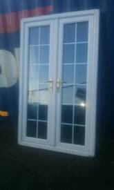 Nice upvc french patio man cave summerhouse double glazed doors