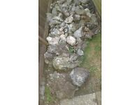 Flint rocks ideal for rockery