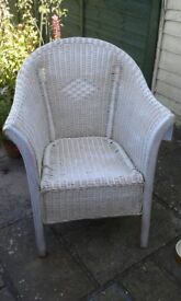 Very Pretty white wicker chair - OFFERS CONSIDERED