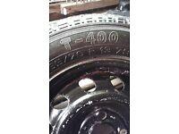 "3 x 13"" wheels and 165/70/13 tyres. Kirkby Malzeard RIPON N.YORKS."
