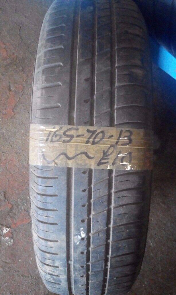 165-70-13 Avon Zt5 79T 4mm Part Worn Tyre
