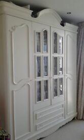 Laura Ashley Style Wardrobe White Finish 4 Doors