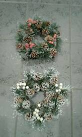 "QUALITY ARTIFICIAL 10 "" CHRISTMAS WREATHS 6.00 EACH"