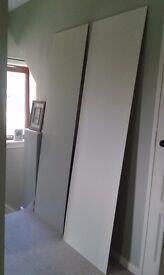 2 x cream colour wood panels