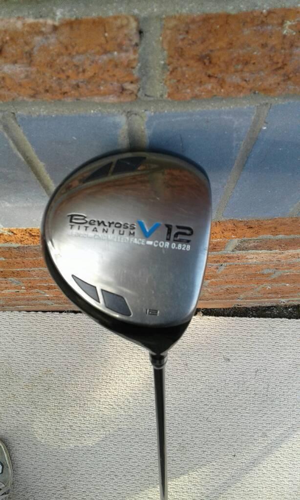 Benross v12 10. 5 titanium driver stiff alida 65 gram shaft.