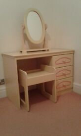 Dressing Table complete with matching Mirror and Stool