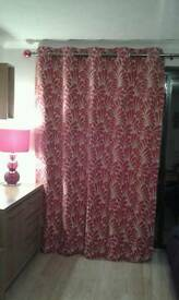 Next red curtains
