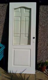 WHITE INTERNAL HALF GLAZED DOOR