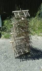 Antique Bamboo Bird Cage