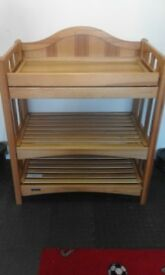Baby Changing unit with storage and bath