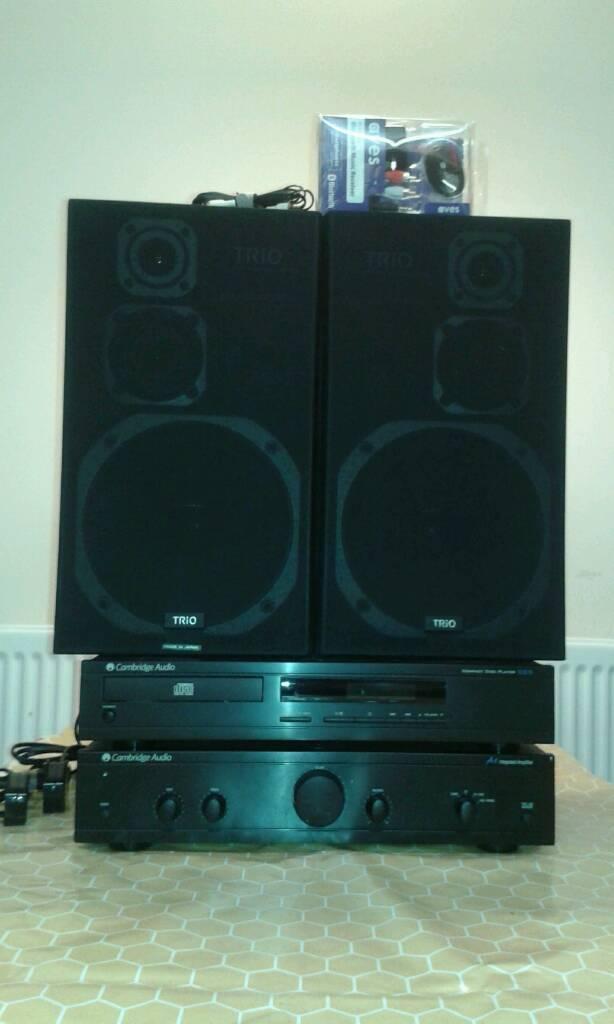 Cambridge audio amplifier, Speakers, CD player