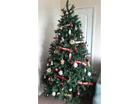 Bayberry Spruce Real Feel 6ft6 Hinged Christmas Tree
